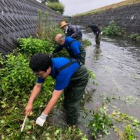 河川清掃参加